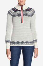 Women's Engage 1/4-Zip Sweater - Pattern