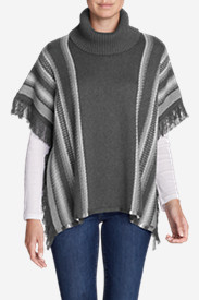 Women's Pine Cone Poncho Sweater - Stripe