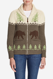 Women's Campfire Sweater Coat - Bears