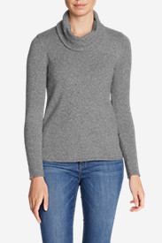 Women's Sweatshirt Sweater - Cowl-Neck