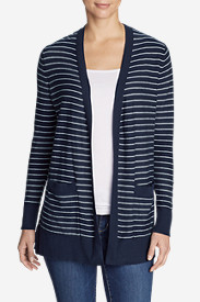 Women's Christine Boyfriend Cardigan Sweater - Stripe