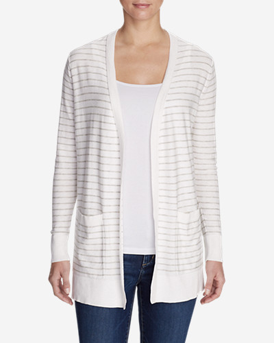 Women's Christine Boyfriend Cardigan Sweater - Stripe