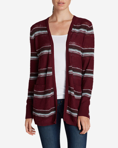 Cotton Cardigans for Women: Women's Open Boyfriend Cardigan Sweater
