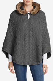 Women's Cable Fable Poncho Sweater