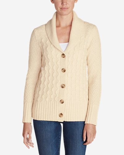 Womens Cable Fable Cardigan Sweater Eddie Bauer