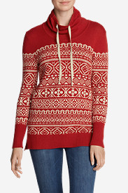 Women's Geometric Jacquard Pullover Sweater