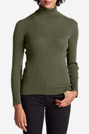 Green Tops for Women: Women's Medina Turtleneck Sweater