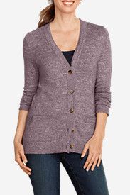 Women's V-Neck Slub Cardigan