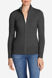 Petite Tops for Women: Women's Medina Zip Cardigan Sweater