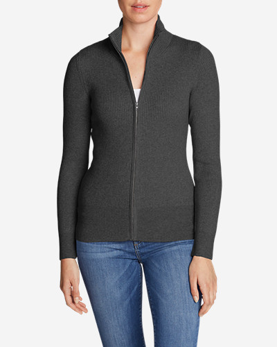 Cotton Cardigans for Women: Women's Medina Zip Cardigan Sweater