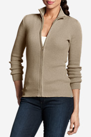 Beige Cardigans for Women: Women's Medina Zip Cardigan Sweater