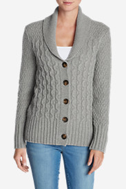 Shawl Collar Cardigans for Women: Women's Eddie Bauer Heritage Cable Cardigan