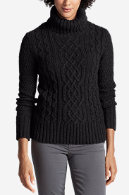 Women's Cable Turtleneck Sweater