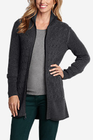 Women's Mount Shasta Long Cable Cardigan Sweater