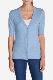 Blue Sweaters for Women: Women's Christine Elbow Cardigan