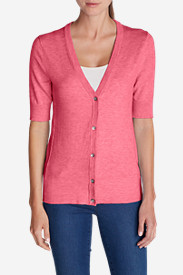 Cotton Tops for Women: Women's Christine Elbow Cardigan