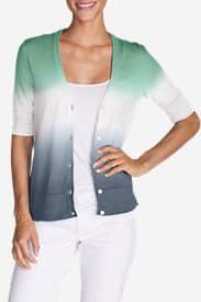 Petite Cardigans for Women: Women's Christine Dip-Dye V-Neck Cardigan Sweater