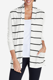 Plus Size Sweaters for Women: Women's Flightplan Cardigan Sweater - Stripe