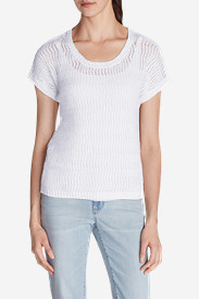 Linen Tops for Women: Women's Beachside T-Shirt Sweater