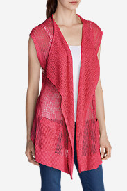 Red Vests: Women's Beachside Long Vest Sweater