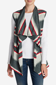 Cotton Tops for Women: Women's Cascade Vest Sweater