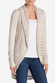 Beige Cardigans for Women: Women's Peakaboo Cardigan Sweater