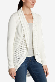 Cotton Tops for Women: Women's Peakaboo Cardigan Sweater