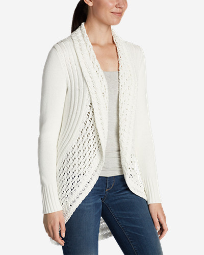 Cotton Cardigans for Women: Women's Peakaboo Cardigan Sweater