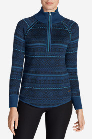 Thermal Sweaters for Women: Women's Engage Fair Isle 1/4-Zip Sweater