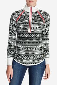 Plus Size Sweaters for Women: Women's Engage Fair Isle 1/4-Zip Sweater