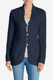 Blue Sweaters for Women: Women's Cable Fable Cardigan Sweater