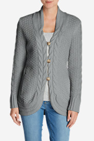 Button-Down Tops for Women: Women's Cable Fable Cardigan Sweater