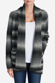Cotton Tops for Women: Women's White Out Cardigan Sweater
