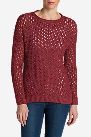 Red Plus Size Pullovers for Women: Women's Peakaboo Pullover Sweater
