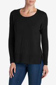 Black Plus Size Pullovers for Women: Women's Christine Pullover Sweater