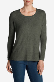 Green Petite Pullovers for Women: Women's Christine Pullover Sweater