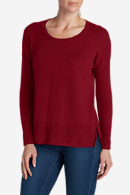 Red Plus Size Pullovers for Women: Women's Christine Pullover Sweater