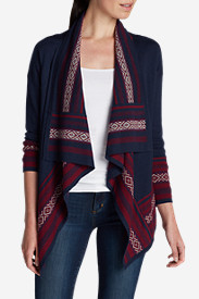 Blue Sweaters for Women: Women's Nordic Lights Cardigan Sweater