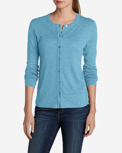 Cotton Cardigans for Women: Women's Christine Cardigan Sweater - Solid