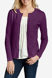 Purple Cardigans for Women: Women's Christine Cardigan Sweater - Solid