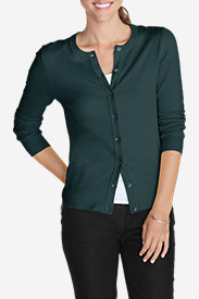 Crewneck Sweaters for Women: Women's Christine Cardigan Sweater - Solid