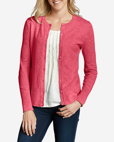 Pink Cardigans for Women: Women's Christine Cardigan Sweater - Solid