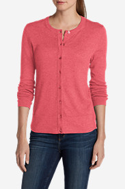 Red Cardigans for Women: Women's Christine Cardigan Sweater - Solid