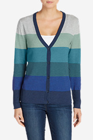 Women's Christine V-Neck Cardigan Sweater - Stripe
