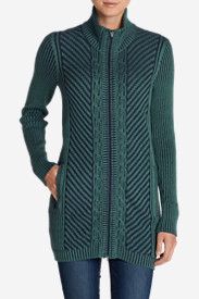 Women's Shasta Zip-Front Mockneck Cardigan Sweater
