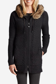 Cardigan Sweaters for Women: Women's Shasta Full-Zip Hoodie Sweater