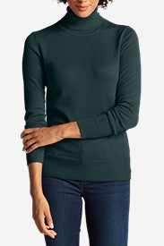 Green Tops for Women: Women's Christine Turtleneck Sweater