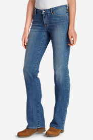 Blue Plus Size Jeans for Women: Women's StayShape® Boot Cut Jeans - Curvy