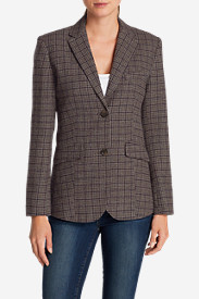 Petite Blazers for Women: Women's Classic Wool-Blend Blazer - Pattern