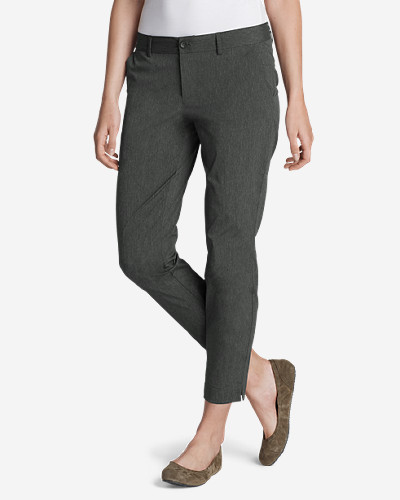 Gray Pants for Women: Women's Voyager Slightly Curvy Slim Pants